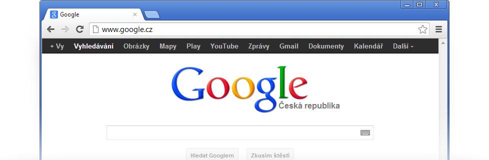 how to change google.cz to google.com
