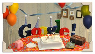 13. narozeniny Googlu