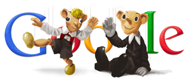 Google Logo: Hurvínek's 85th Birthday - From the Czech puppeteer Josef Skupa.