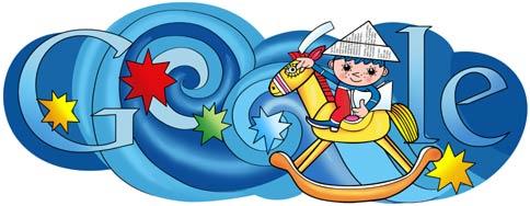 Google Logo: Anniversary of the first broadcast cartoons in the television programme Večerníček.