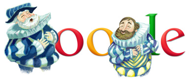 Google Logo: Jan Werich's 106th birthday. Czech actor, playwright and writer.