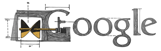 Google Logo: Josef Ressel's 219th birthday - inventor of the first working ship's propellers