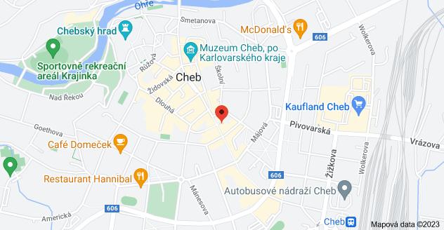 Mapa oblasti Svobody 520/3, 350 02 Cheb