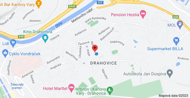 Mapa oblasti Národní 222/26, Drahovice, 360 01 Karlovy Vary