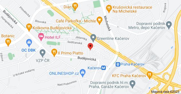 Mapa oblasti Krumlovská 527/4, 140 00 Praha 4-Michle