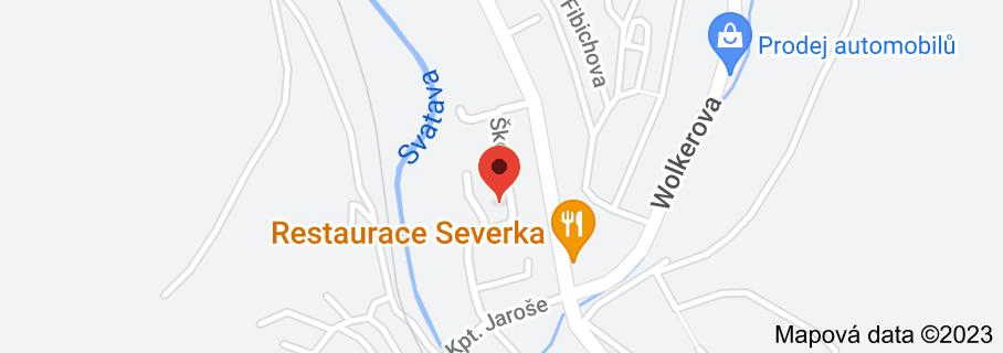 Mapa oblasti Zvláštní škola praktická a Základní škola speciální Kraslice, okres Sokolov