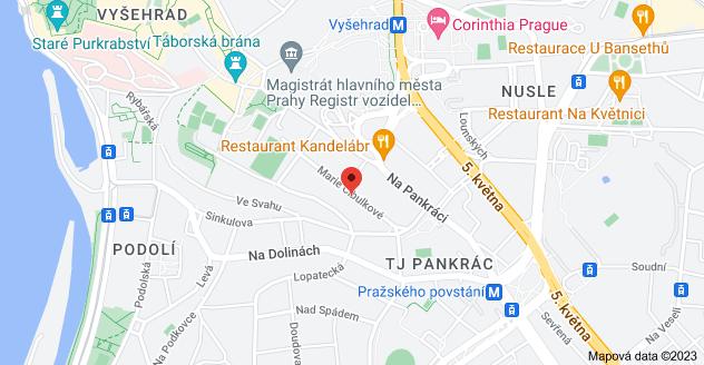 Mapa oblasti Marie Cibulkové 351/26, 140 00 Praha 4-Nusle